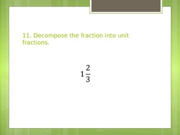 Common Core / GSE Review: Grade 4 - Number & Operations: Fractions