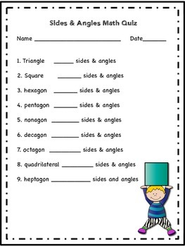 Math Sides and Angles Quiz