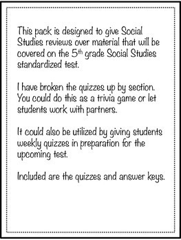 5th Grade Bundle Common Core, GA Milestones Review Test Prep & Year Round Quiz