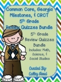 5th Grade Bundle Common Core, GA Milestones Review Test Pr