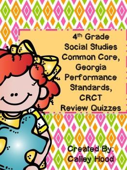 4th Grade Social Studies GA GA Milestones, CC Review Quizzes Test Prep