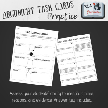 CRE Task Cards (Late School Day Start Topic)