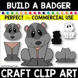 CREATE A CRAFT Clipart BUILD A BADGER