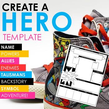 CREATE A HERO! Trading Card Template -- ALL GRADES!
