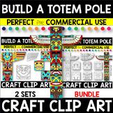 CREATE A Totem Pole Craft Clipart BUNDLE