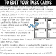 CREATE YOUR OWN EDITABLE TASK CARDS for any subject and any grade level