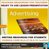 ADVERTISEMENT DESIGNING LESSON PRESENTATION