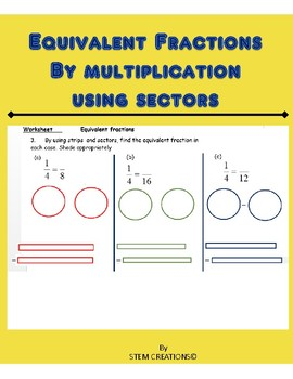 CREATING EQUIVALENT FRACTIONS USING STRIPS OR SECTORS