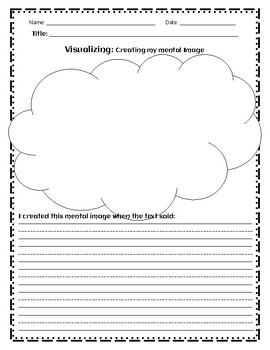 CREATING MENTAL IMAGES WRITING ACTIVITY - English and Spanish