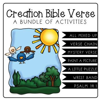 CREATION BIBLE VERSE BUNDLE: PSALM 19:1