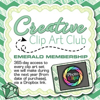 CREATIVE CLIP ART CLUB {EMERALD MEMBERSHIP - 1 Year of Graphics}