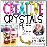 CREATIVE CRYSTALS to spark creativity in your students FREEBIE