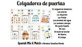 CREATIVE DOOR HANGERS VOCABULARY BASED FOR SPANISH CLASS