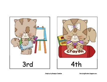 ORDINAL NUMBERS 1ST-5TH- Creative Kitty
