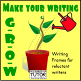 {WRITING FRAMES} {writing activities} {struggling writers}