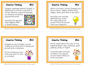 CREATIVE THINKING Task Cards