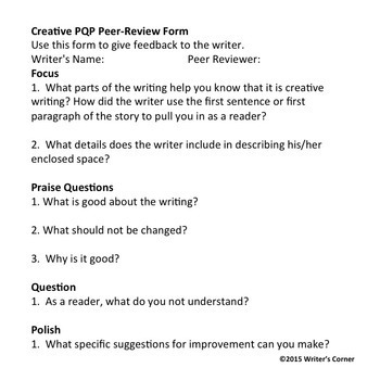 Peer Review of Student Writing
