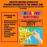 Creative Writing Lesson Plan - STRANGE ENCOUNTERS OF THE ANIMAL KIND