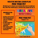 Creative Writing Lesson Plan - PICK YOUR PET
