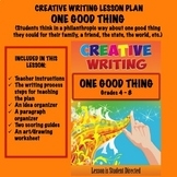 Creative Writing Lesson Plan - ONE GOOD THING