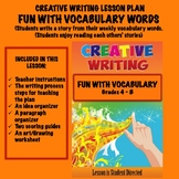 Creative Writing Lesson Plan- -FUN WITH VOCABULARY