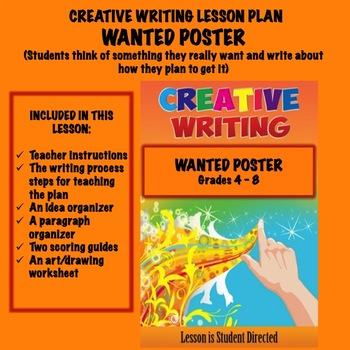 FREE Creative Writing Lesson Plan - WANTED POSTER