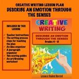 Creative Writing Lesson Plan - Describe an Emotion Through the Senses