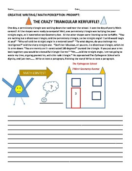 MATH PROMPT: CREATIVE WRITING: THE CRAZY TRIANGULAR KERFUFFLE