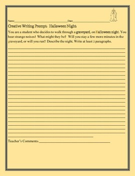 CREATIVE WRITING PROMPT: HALLOWEEN NIGHT