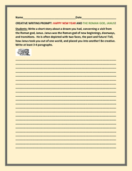 CREATIVE WRITING PROMPT: JANUARY