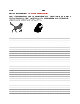 CREATIVE WRITING PROMPT: THE CAT DETECTIVE