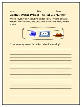 CREATIVE WRITING PROMPT: THE HAT BOX MYSTERY