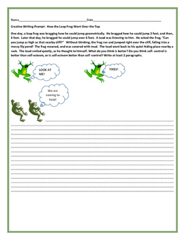 CREATIVE WRITING PROMPT: THE LEAPING FROG