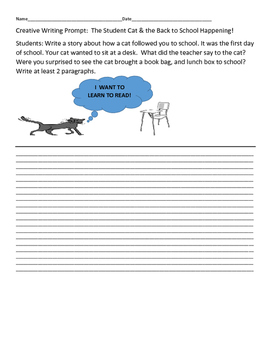 CREATIVE WRITING PROMPT: THE STUDENT CAT