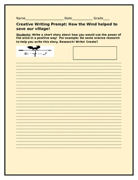CREATIVE WRITING PROMPT:HOW THE WIND HELPED TO SAVE OUR VILLAGE