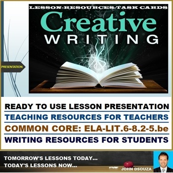 CREATIVE WRITING - READY TO USE LESSON PRESENTATION