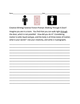 CREATIVE WRITING/SCIENCE FICTION PROMPT: WALKING THROUGH THE DOOR!