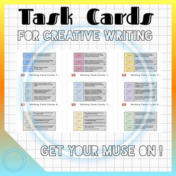 CREATIVE WRITING TASK CARDS for STEAM BINS (Growing Bundle) Get Your Muse On!