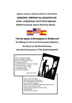 Creative Writing as History, Fiction, Screenplay or Essay