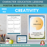 CREATIVITY | Google Apps | Positive Behavior | Daily Chara