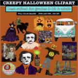 CREEPY HALLOWEEN CLIPART, CLASS DECOR, BULLETIN BOARDS, STICKERS