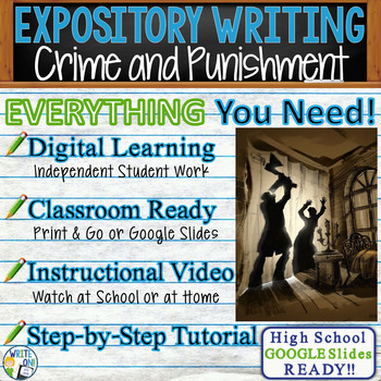 Crime and Punishment by F. Dostoevsky Text Dependent Analysis Expository Writing