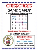 CRISSCROSS Game Cards with Activity Sheets