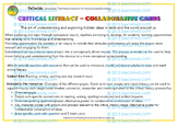 CRITICAL LITERACY Collaborative cards