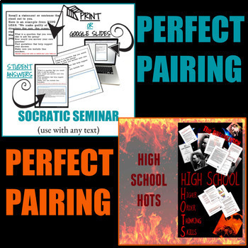 CRITICAL THINKING ACTIVITIES - Perfect Pairing: NIETZSCHE and SOCRATIC SEMINAR