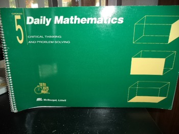 CRITICAL  THINKING AND PROBLEM SOLVING DAILY MATH