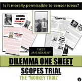 CRITICAL THINKING DILEMMA ONE SHEET (#5) 1st AMENDMENT and FREE SPEECH