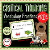 VOCABULARY TASK CARDS Set I Forest Vocabulary Activities Fractions HOTS