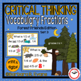 VOCABULARY TASK CARDS Set 3 Forest Vocabulary Activities Fractions HOTS