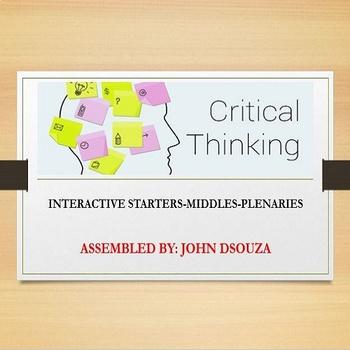 CRITICAL THINKING ACTIVITIES: PRESENTATION
